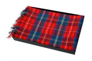 Плед «Эдинбург», красный/синий