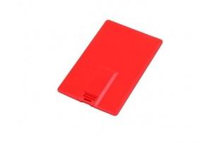 Флешка в виде пластиковой карты, 16 Гб, красный