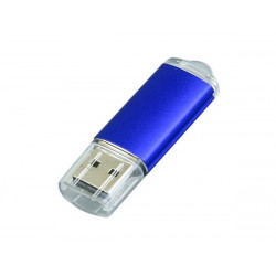 USB 2.0- флешка на 16 Гб с прозрачным колпачком