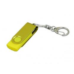 USB 2.0- флешка промо на 16 Гб с поворотным механизмом и однотонным металлическим клипом