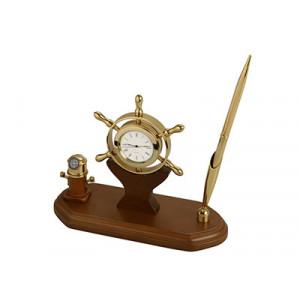 Настольный прибор «У руля», коричневый/золотистый