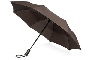 """Зонт складной """"Ontario"""", автоматический, 3 сложения, с чехлом, коричневый"""