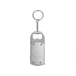Брелок-открывалка с рулеткой и фонариком «Open»
