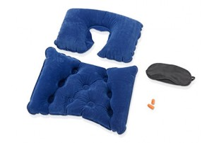 Набор для путешествий с комфортом: повязка на глаза для спокойного сна в дороге, подушка для спины, подушка под голову, беруши, дорожный чехол