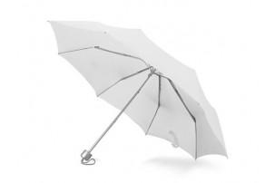 """Зонт складной """"Tempe"""", механический, 3 сложения, с чехлом, белый"""