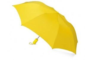 """Зонт складной """"Tulsa"""", полуавтоматический, 2 сложения, с чехлом, желтый"""