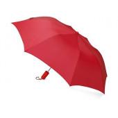 """Зонт складной """"Tulsa"""", полуавтоматический, 2 сложения, с чехлом, красный"""