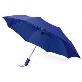 """Зонт складной """"Tulsa"""", полуавтоматический, 2 сложения, с чехлом, синий"""