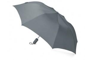 """Зонт складной """"Tulsa"""", полуавтоматический, 2 сложения, с чехлом, серый"""