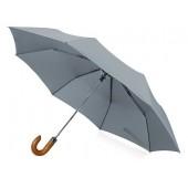 """Зонт складной """"Cary """", полуавтоматический, 3 сложения, с чехлом, серый"""