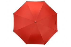 """Зонт-трость """"Silver Color"""" полуавтомат, красный/серебристый"""