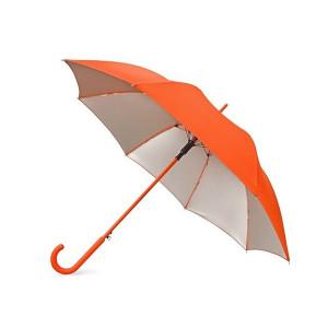 """Зонт-трость """"Silver Color"""" полуавтомат, оранжевый/серебристый"""