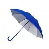 """Зонт-трость """"Silver Color"""" полуавтомат, синий/серебристый"""