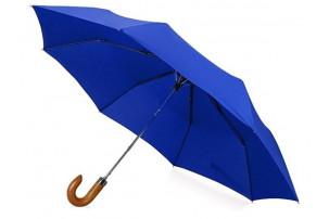 """Зонт складной """"Cary"""", полуавтоматический, 3 сложения, с чехлом, темно-синий"""
