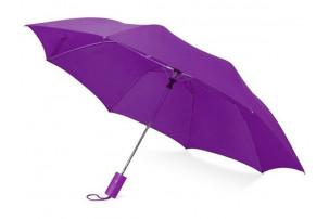 """Зонт складной """"Tulsa"""", полуавтоматический, 2 сложения, с чехлом, фиолетовый"""