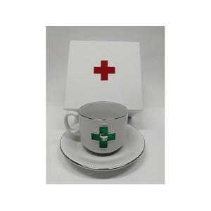 Чайная пара фарфоровая «Фармацевт»