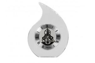 Часы настольные «Шельф» Ottaviani, прозрачный/серебристый
