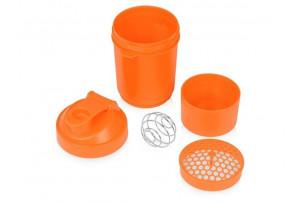 Шейкер для спортивного питания «Level Up», оранжевый