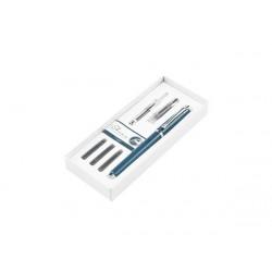 Набор «I-Share»: ручка роллер, сменная насадка с пером, чернила