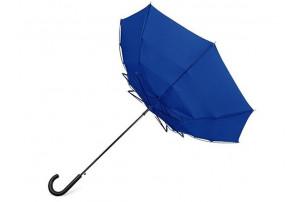 """Зонт-трость """"Wind"""", полуавтомат, темно-синий"""
